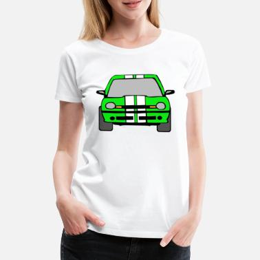 Automobil dragster racer automotive car automobil rennwagen2 - Frauen Premium T-Shirt
