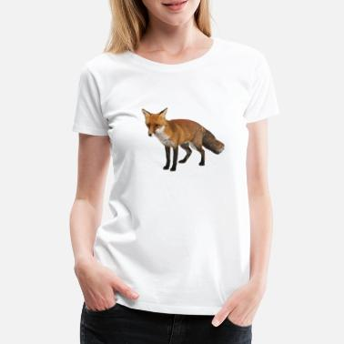 Realistic Fox - Women's Premium T-Shirt