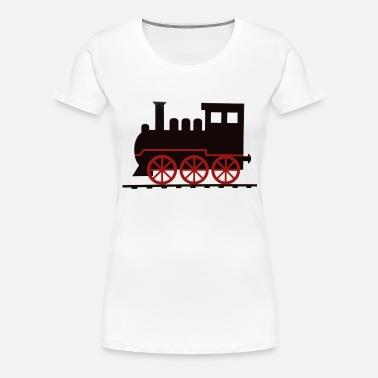 340ab8bff8dd Steam lokomotiv damp røg røg toget Premium hættetrøje dame
