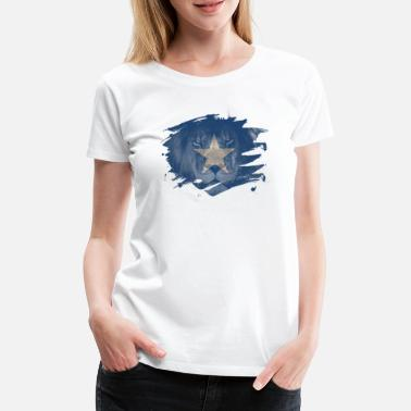 African Somalia Lion Flag Paint Splatter - Women's Premium T-Shirt
