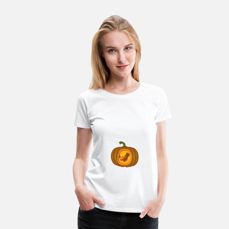 Mamma T-shirts - Pumpa Pumpa Graviditet Graviditet Halloween - Premium T-shirt  dam 2bd37dbf4b94c