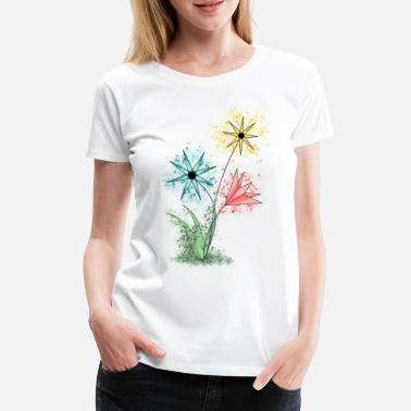 Collection Flowers - Colorful flowers - Women's Premium T-Shirt