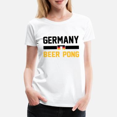 Beirut Germany Beer Pong - Women's Premium T-Shirt