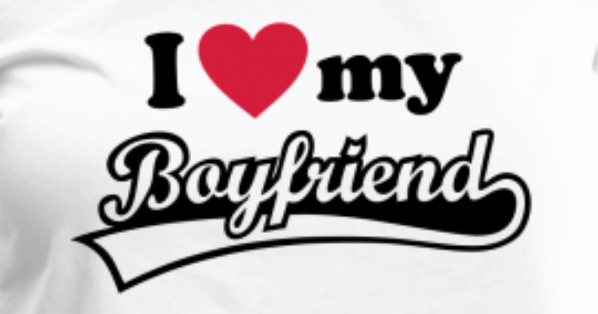 I Love My Boyfriend Ik Hou Van Mijn Vriend Vrouwen Premium T Shirt