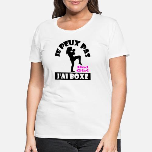 Spreadshirt No Mujer Puedo Tener Para Camiseta Boxeo Premium wA40qFw
