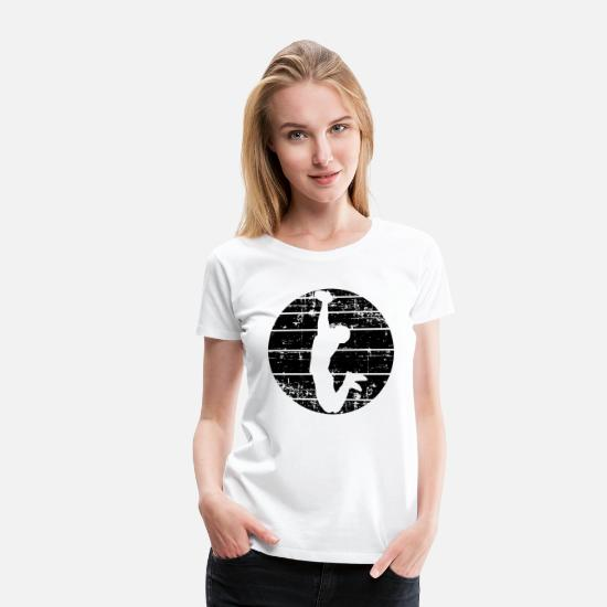Staan T-shirts - Amerikaans voetbal - Vrouwen premium T-shirt wit