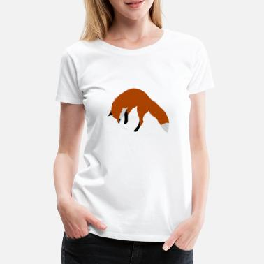 Pounce Red Fox Pouncing - Women's Premium T-Shirt