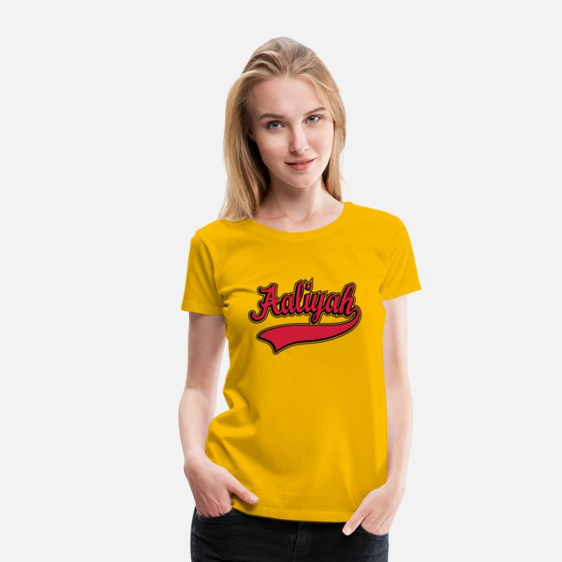 078ea42474fff Aaliyah - Name as a sport swash Women s Premium T-Shirt