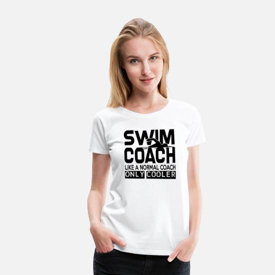 Swim T-Shirts - Swim Shirt Diving Sport Coach Gift - Women's Premium T-Shirt white