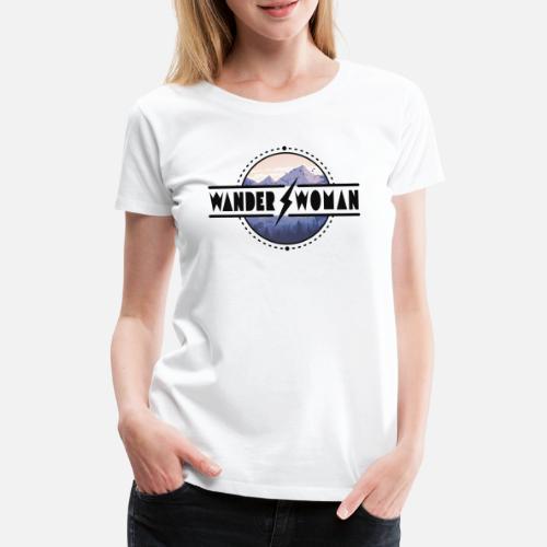 Randonnée Femme   randonnée, trekking, plein air, montagnes T-shirt premium  Femme   Spreadshirt 0fd6cc7ebb3d