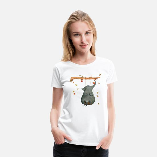 First T-Shirts - elephant - Women's Premium T-Shirt white