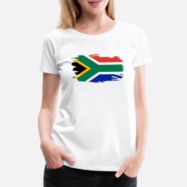 South South Africa Flag Brush Heart Holiday Africa Home - Women's Premium T-Shirt