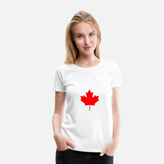 Canada T-shirts - Canada - Vrouwen premium T-shirt wit