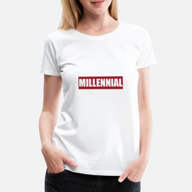 Skater Millennial Generation Logo Youth Youth Adult - Women's Premium T-Shirt