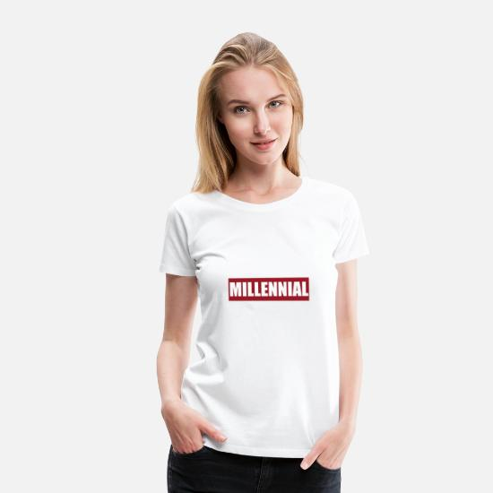 Generation T-Shirts - Millennial Generation Logo Youth Youth Adult - Women's Premium T-Shirt white