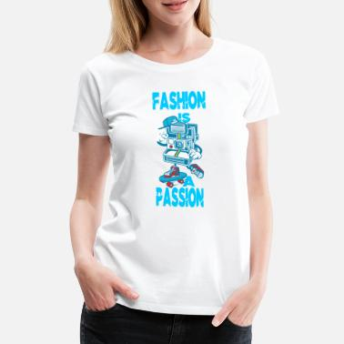 Excellence Fashion Is Passion Polaroid Skater Gift Idea - Women's Premium T-Shirt