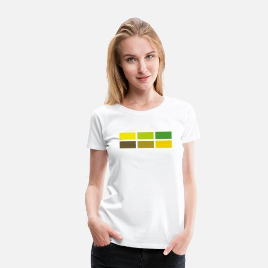 Stylish T-Shirts - Squares - Women's Premium T-Shirt white