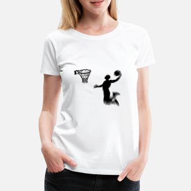 Basketball Evolution Basketball - Frauen Premium T-Shirt