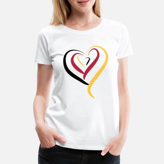 Deutschland Herz Frauen Premium T-Shirt von Spreadshirt®