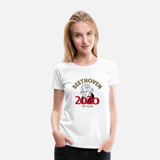 Fiddle T-Shirts - Beethoven 2020 - 250 years - Women's Premium T-Shirt white