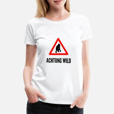 Feu De Circulation Attention Wild Un singe - T-shirt Premium Femme