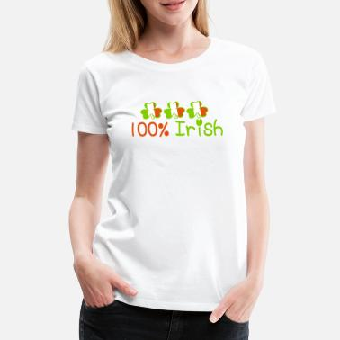 Keep Calm Underwear ♥ټ☘Kiss Me I'm 100% Irish-Irish Rule☘ټ♥ - Women's Premium T-Shirt