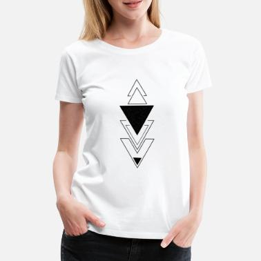 Hexagon Trianglar Zodiac Style - Premium-T-shirt dam