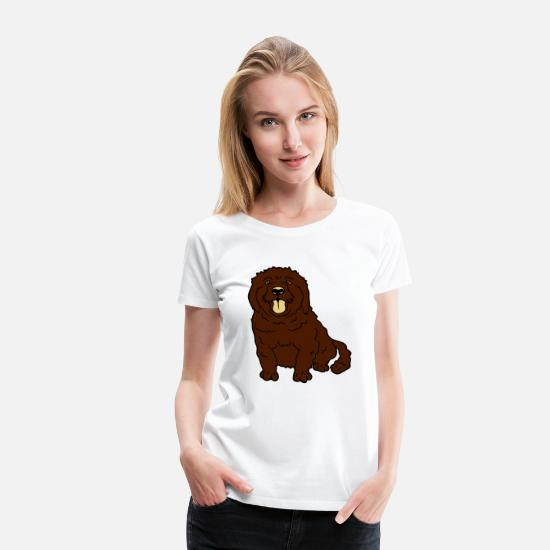Small T-Shirts - sweet little brown sitting dog - Women's Premium T-Shirt white