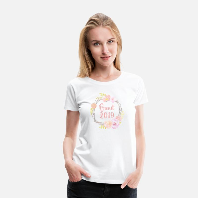 Bride T-Shirts - Bride 2019 | Circle of Love - Women's Premium T-Shirt white
