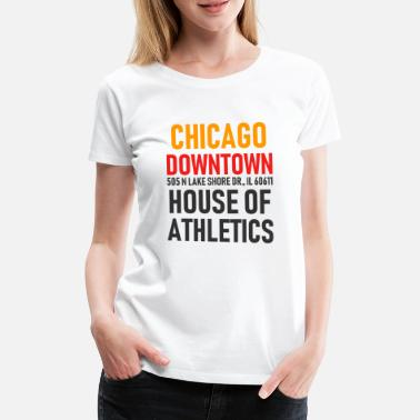 Windy City Chicago Downtown - Athletics House - Illinois - Premium T-skjorte for kvinner