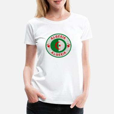 State Algeria vintage circle with national flag - Women's Premium T-Shirt