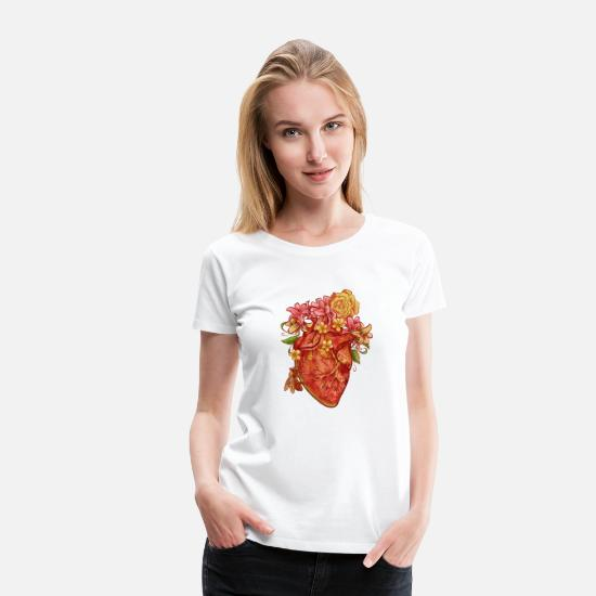 Flowercontest T-Shirts - A heart for the environment - Women's Premium T-Shirt white
