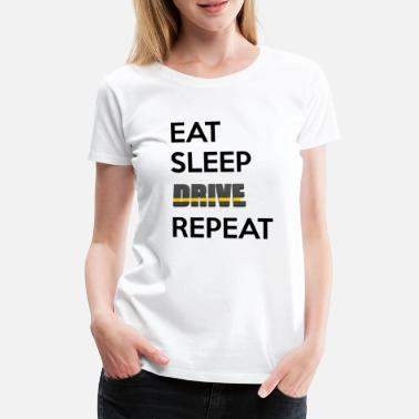 Taxi eat sleep drive repeat - Women's Premium T-Shirt