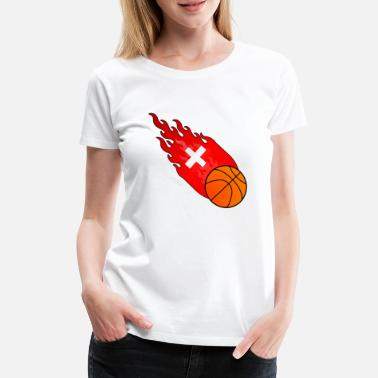 Ball Sport Fireball Basketball Switzerland - Women's Premium T-Shirt