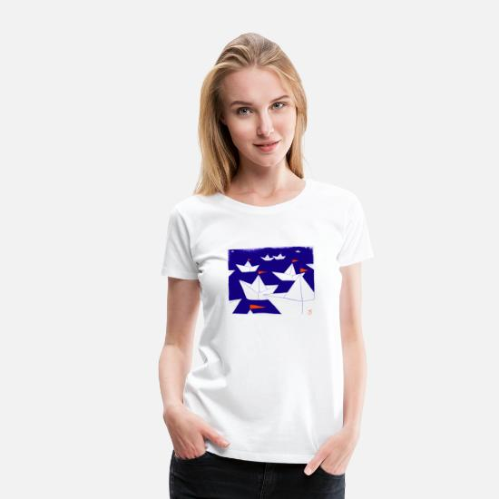 Sailboat T-Shirts - sailboats - Women's Premium T-Shirt white