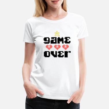 Game Console Game Over Computers Console Gift Game Console - Vrouwen Premium T-shirt