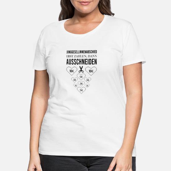 Junggesellinnenabschied Herzen Ausschneiden Spiel Frauen Premium T-Shirt von