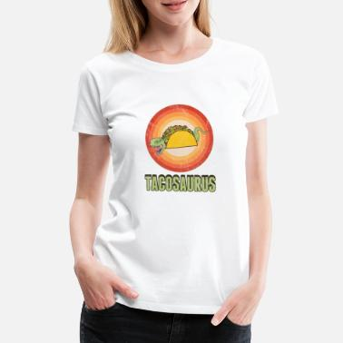 Battle Tacosaurus Funny Taco T-Rex Cinco De Mayo Holiday - Women's Premium T-Shirt