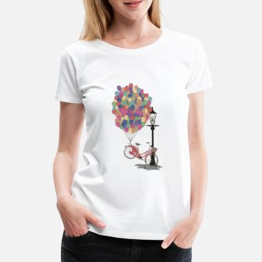 Love to Ride my Bike with Balloons - T-shirt premium Femme