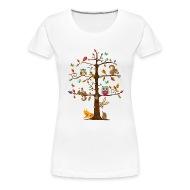 animaux colorés sur un arbre T-shirt premium
