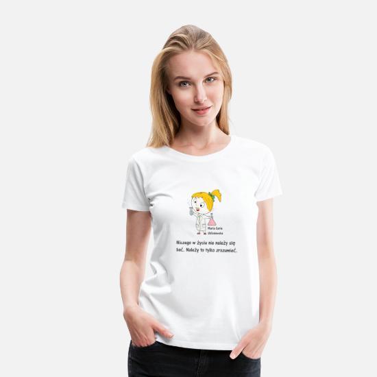 Skłodowska Curie, Maria kobieta zaRADna   koszulka damska