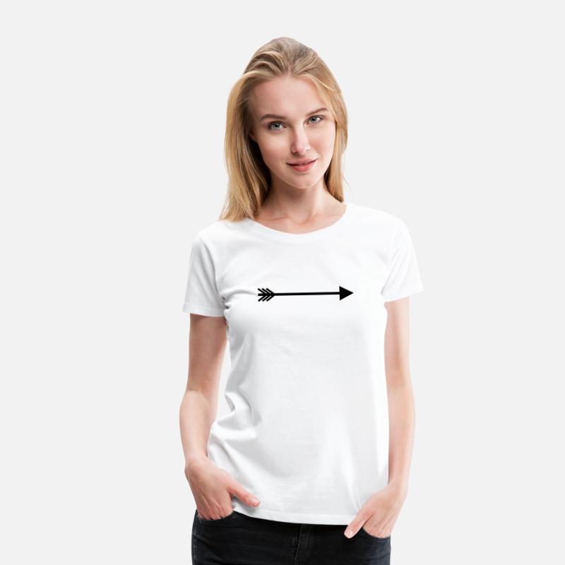 T Blanc Droite Premium Femme Shirt Flèche xBErodeQCW