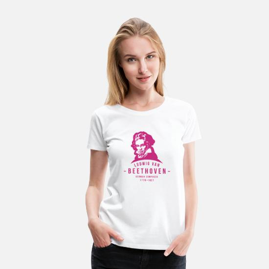 German T-Shirts - Ludwig van Beethoven, Classical, Music - Women's Premium T-Shirt white
