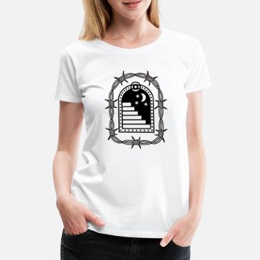 Moon Tattoo Hipster T-shirt - Women's Premium T-Shirt