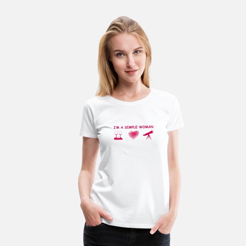 0ca5a8250933f2 Geschenkidee T-Shirts - astronomy astronomie astronom wein herz liebe einf  - Frauen Premium T