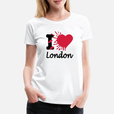 England I Love London - Premium T-shirt dame