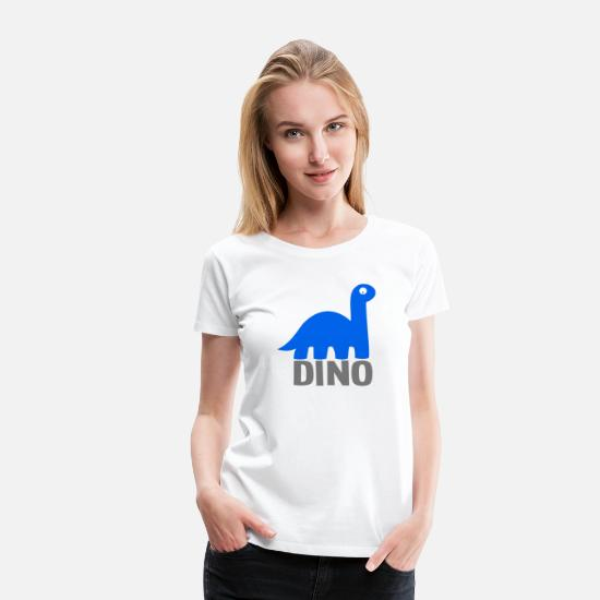 Animal T-Shirts - Dino - Women's Premium T-Shirt white