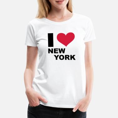 I Love New York I LOVE New York - eushirt.com - NL - Vrouwen premium T-shirt