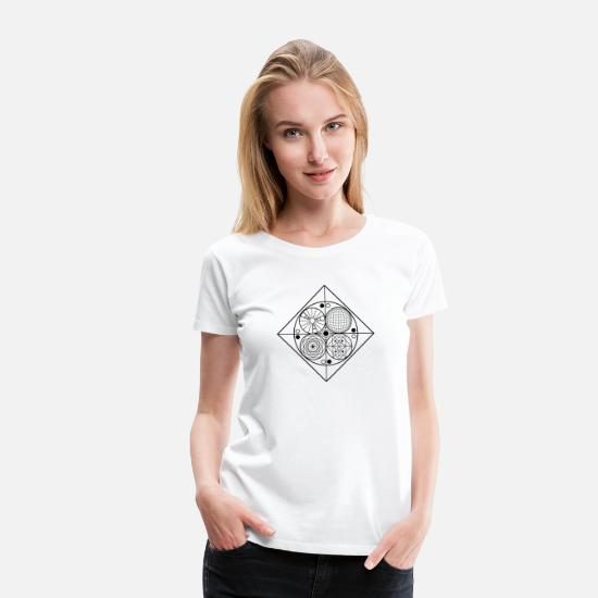 Shape T-Shirts - Abstract_02 - Frauen Premium T-Shirt Weiß