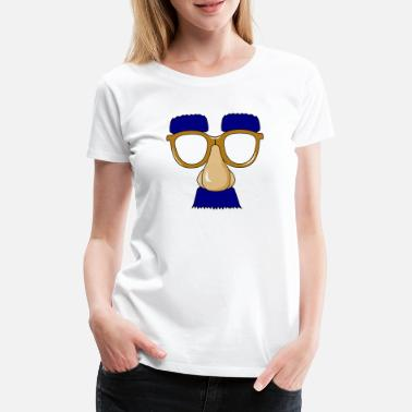 Marxism Glasses with mustache - Women's Premium T-Shirt